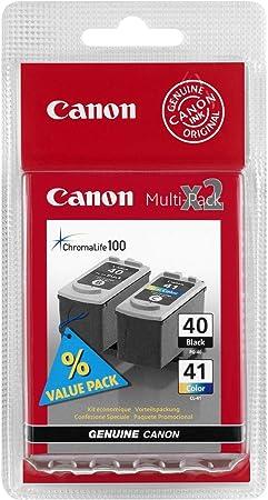 Paquete combo de cartuchos de tinta CL-41 y PG-40 Canon Original: Amazon.es: Oficina y papelería