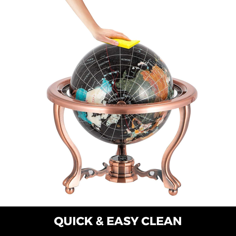 14x9//36x23cm Schwarz VEVOR 36cmx23cm Edelstein Weltkugel Globus Drehbar Gemstone World Globe mit St/änder Schwarz f/ür Dekoration Lernen