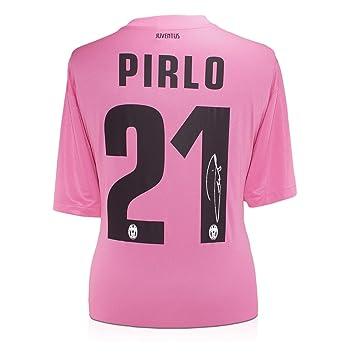 exclusivememorabilia.com Andrea Pirlo de Juventus Firmado 2012-13 camiseta de Futbol Visitante