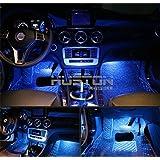 Aution House Auto Luci Interne dell'Automobile LED Interni auto Interni Luce 4 pezzi dell'Automobile LED Sotto il Cruscotto Interni Kit di lluminazione Led Car Lights Atmosfera per Auto e Veicoli (BLU )