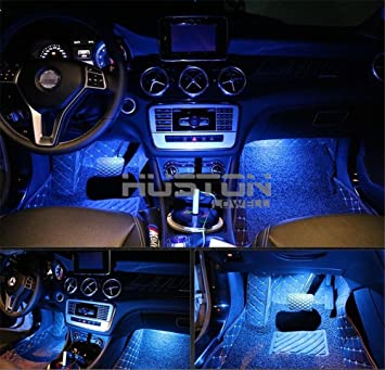led lighting interior. onepalace 4pcs car led interior underdash lighting kit led light auto lights o