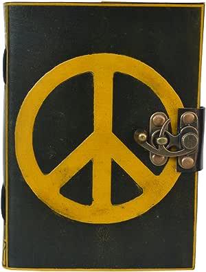 Celtic sombra símbolo de la Paz diario de piel en blanco