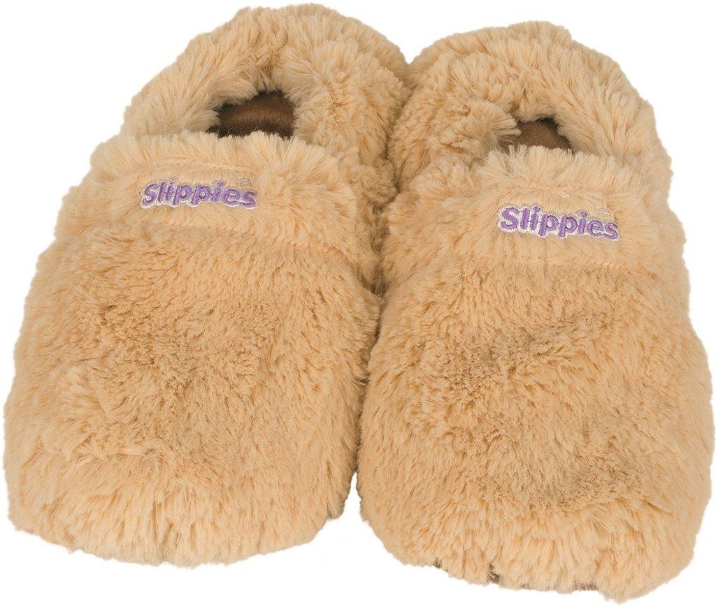 Warmies Slippies Deluxe wärme Pantoffel beige Gr. M (36-40),: Amazon ...