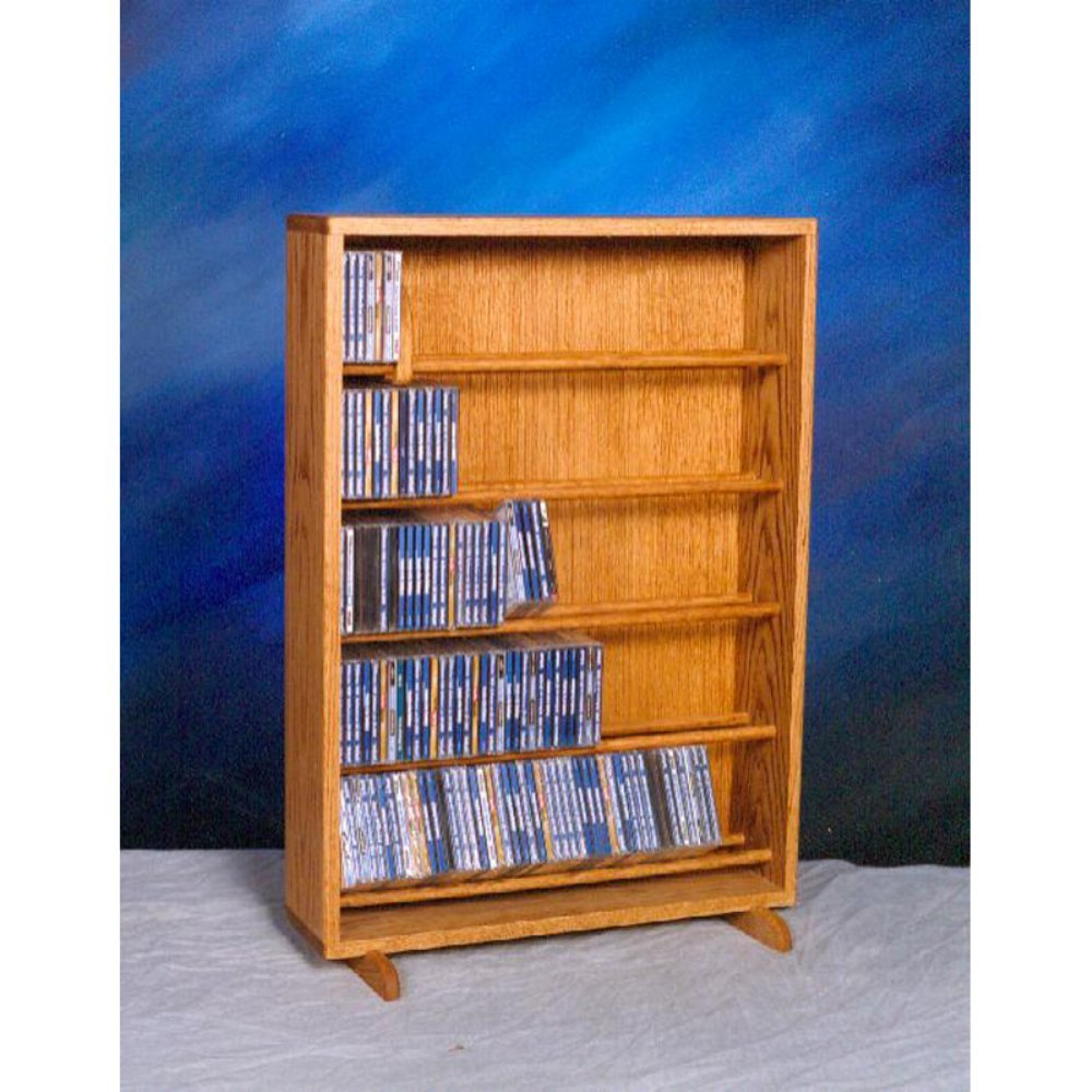 Wood Shed Solid Oak Dowel Cabinet for CD's Honey Oak by Wood Shed