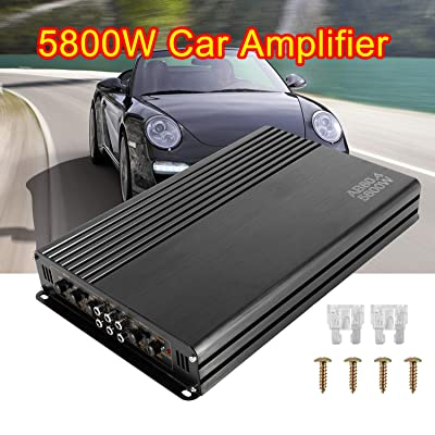 5800W 12V 4 Channel Car Amplifier Stereo Audio Super Bass Power Subwoofer Amp: Car Electronics