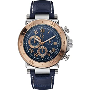Guess Reloj Cronógrafo para Hombre de Cuarzo con Correa en Cuero X90015G7S: Amazon.es: Relojes