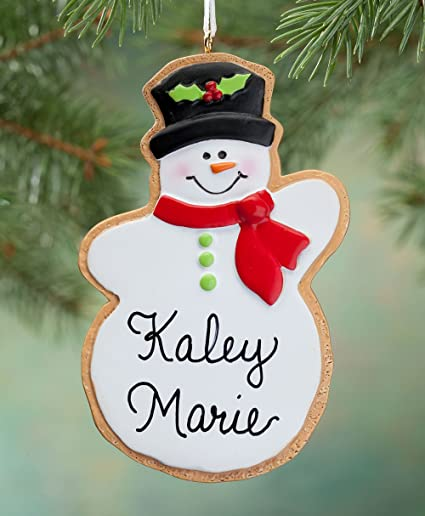 Miles Kimball Personalized Snowman Christmas Cookie Ornament - Amazon.com: Miles Kimball Personalized Snowman Christmas Cookie