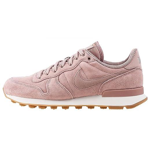 nike damen internationalist rosa leder/textil sneaker