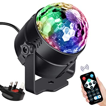 Disco Lights Disco Ball 3W RGB LED Strobe Light Karrong Music Activated  Party Glitter Ball Lights