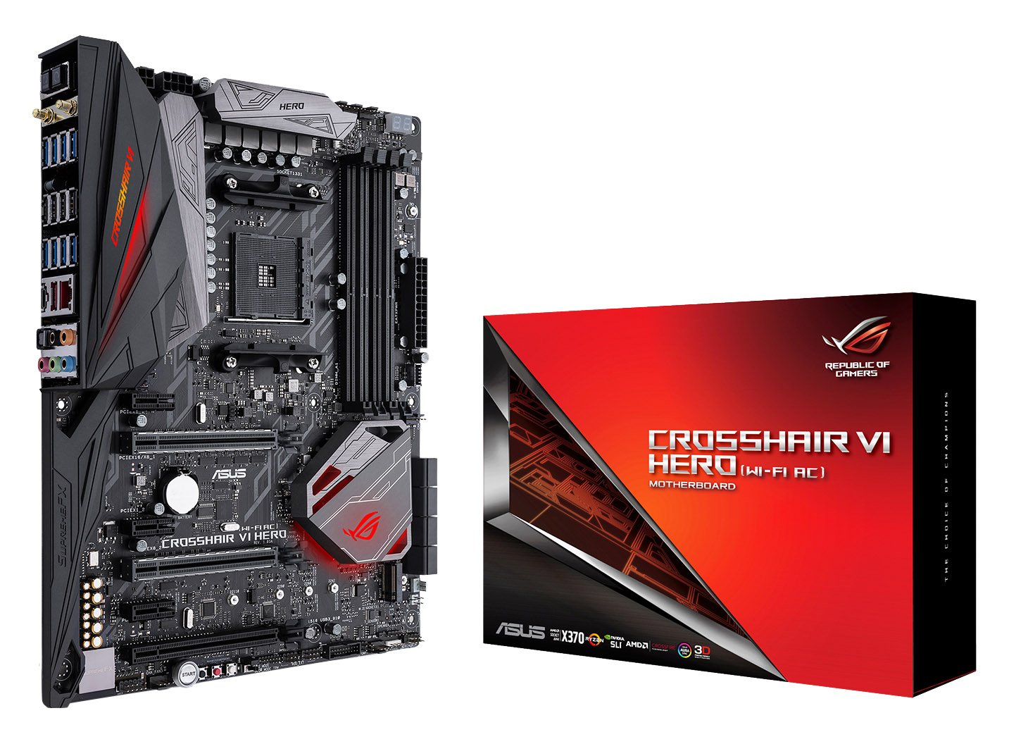 Asus Rog Crosshair Vi Hero (wi-fi Ac) Amd Ryzen Am4 Ddr4 ...