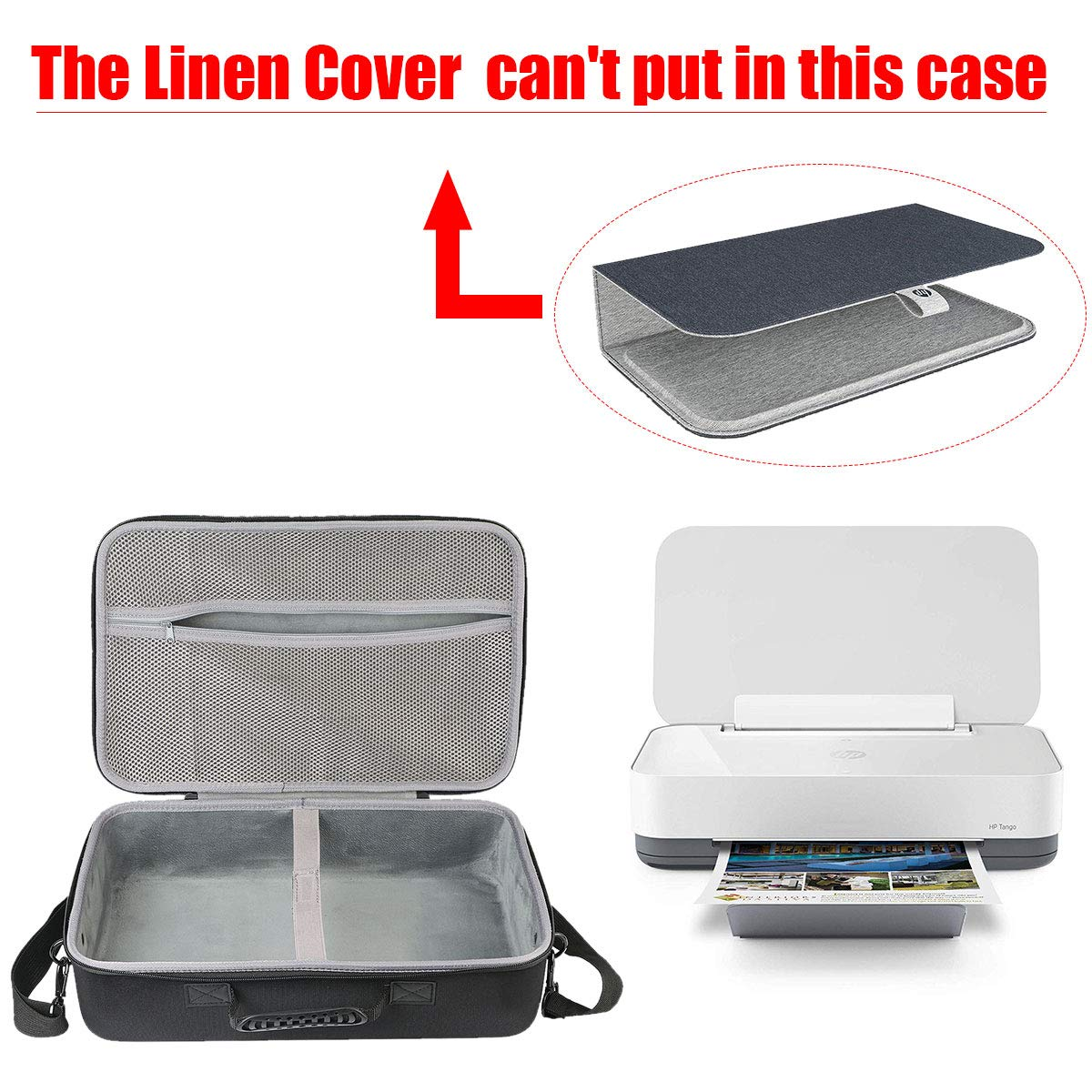co2crea Hard Travel Case for HP Tango Smart Home Printer 2RY54A (Can't to fit HP Tango Cover) by Co2Crea (Image #2)