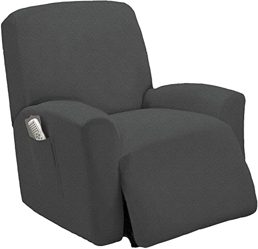 Lazy Boy Chair >> Stretch To Fit One Piece Lazy Boy Chair Recliner Slipcover Stretch Fit Furniture Chair Recliner Cover With 3 Foam Pieces To Hid Extra Fabric 4
