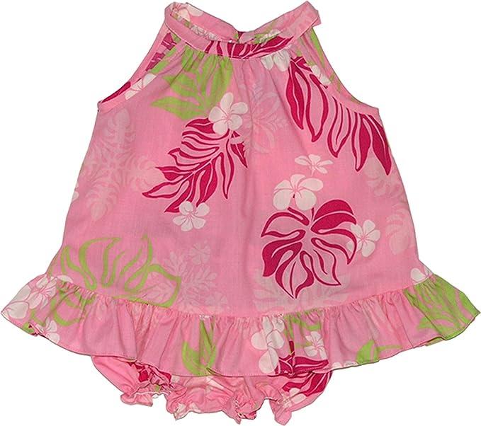 Amazon.com: rjc bebé niñas pálido Flores Hawaianas Halter ...