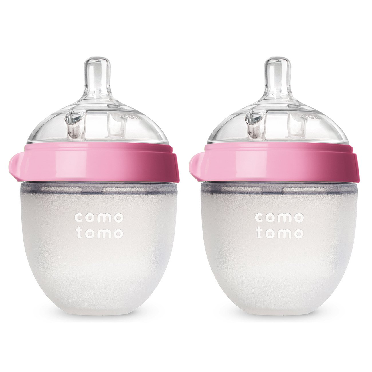 Comotomo Baby Bottle, Pink, 8 Ounce, 2 Count 250ml Pink