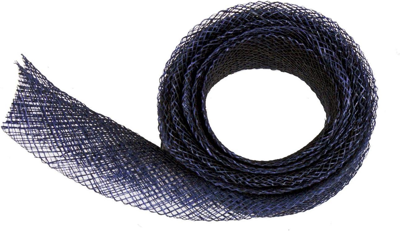 Navy Blue Sinamay Bias Binding Tape for Millinery 1 cm Wide 1 Meter