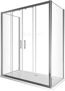 Cambio bañera Box ducha 3 lados con puerta corredera 4 puertas Central + 2 paredes fijas Cristal Templado Anti gota 70 75 80 90 130 140 150 160 170 180 190 200 210: Amazon.es: Bricolaje y herramientas