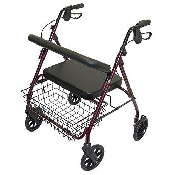 Amazon.com: S-Day - Andadera móvil de metal y asiento de ...