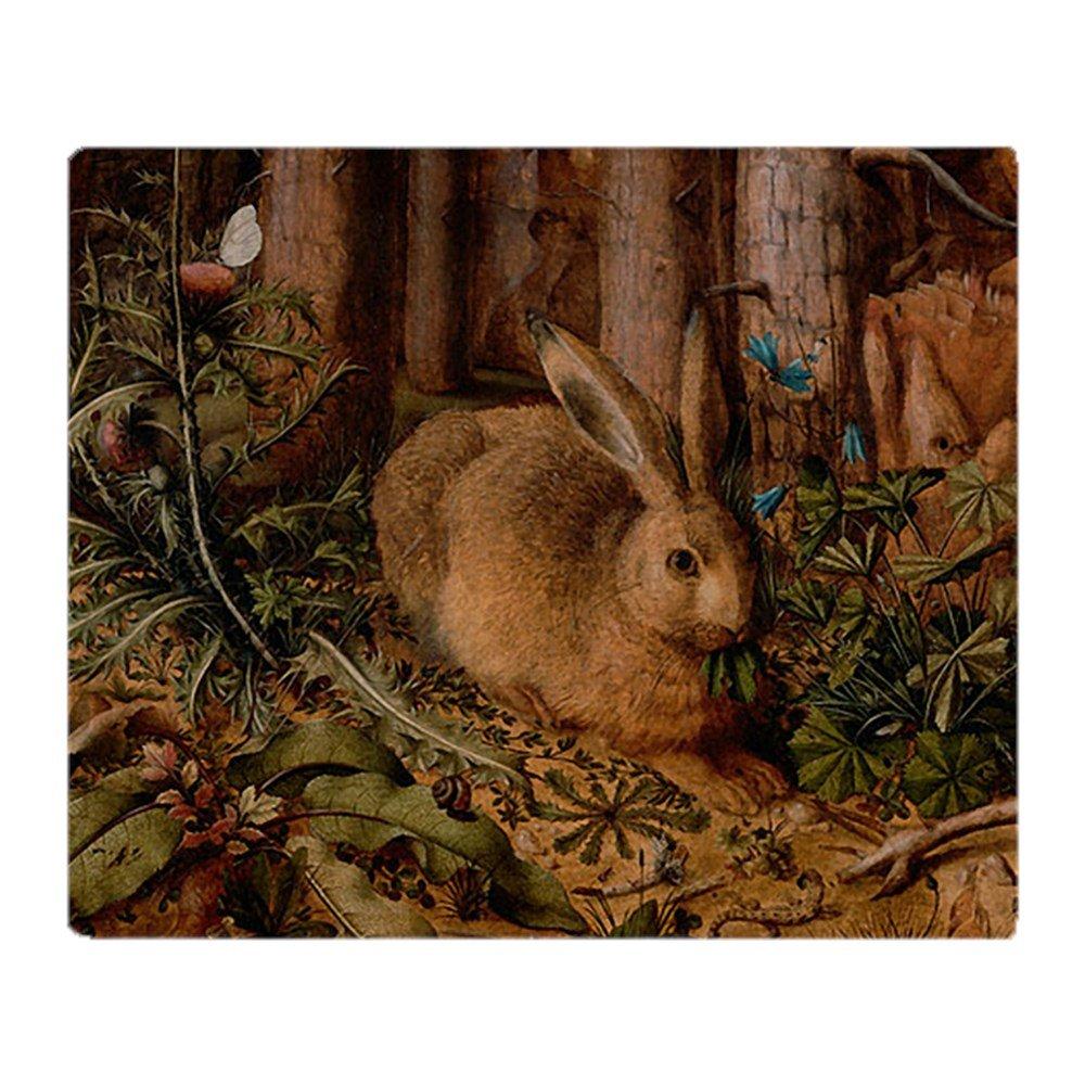 CafePress - Rabbit In The Woods - Soft Fleece Throw Blanket, 50''x60'' Stadium Blanket