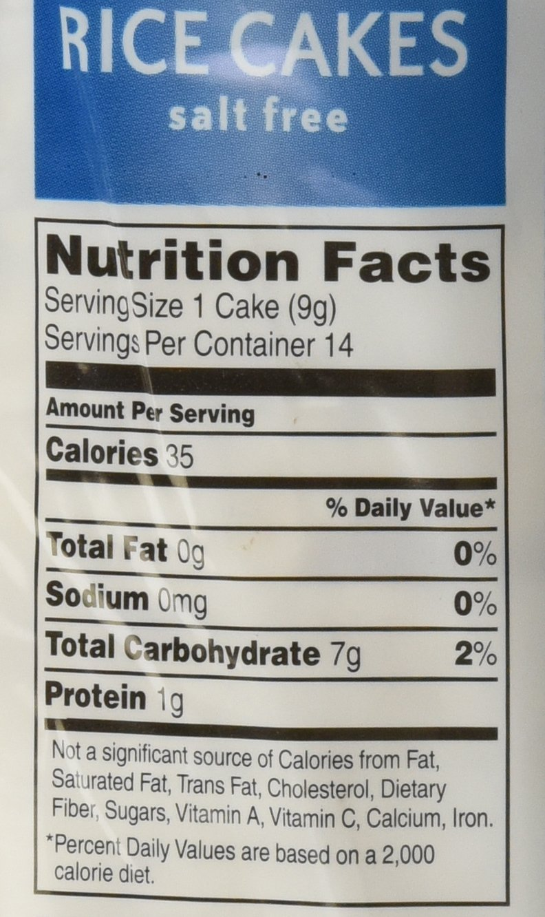 Nutritional Value Of Plain Rice Cakes