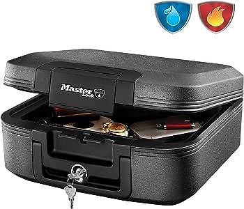 Master Lock LCHW20101 Caja Fuerte Portatil Ignifuga y Impermeable con Llave Medium Adecuada para A4 Documentos, Dispositivos Electrónicos, Soporte Multimedia, Pequeños: Amazon.es: Bricolaje y herramientas