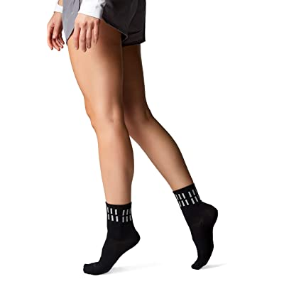 Love Classic Reflective Black Women's Athletic Sport Crew Moisture Wicking Socks... at Women's Clothing store