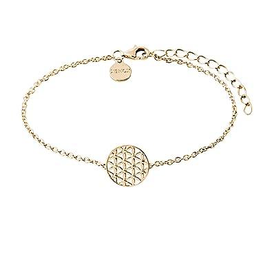Xenox Damen Armband mit Blume des Lebens vergoldet aus 925 Sterling Silber   Amazon.de  Schmuck 175d20f780