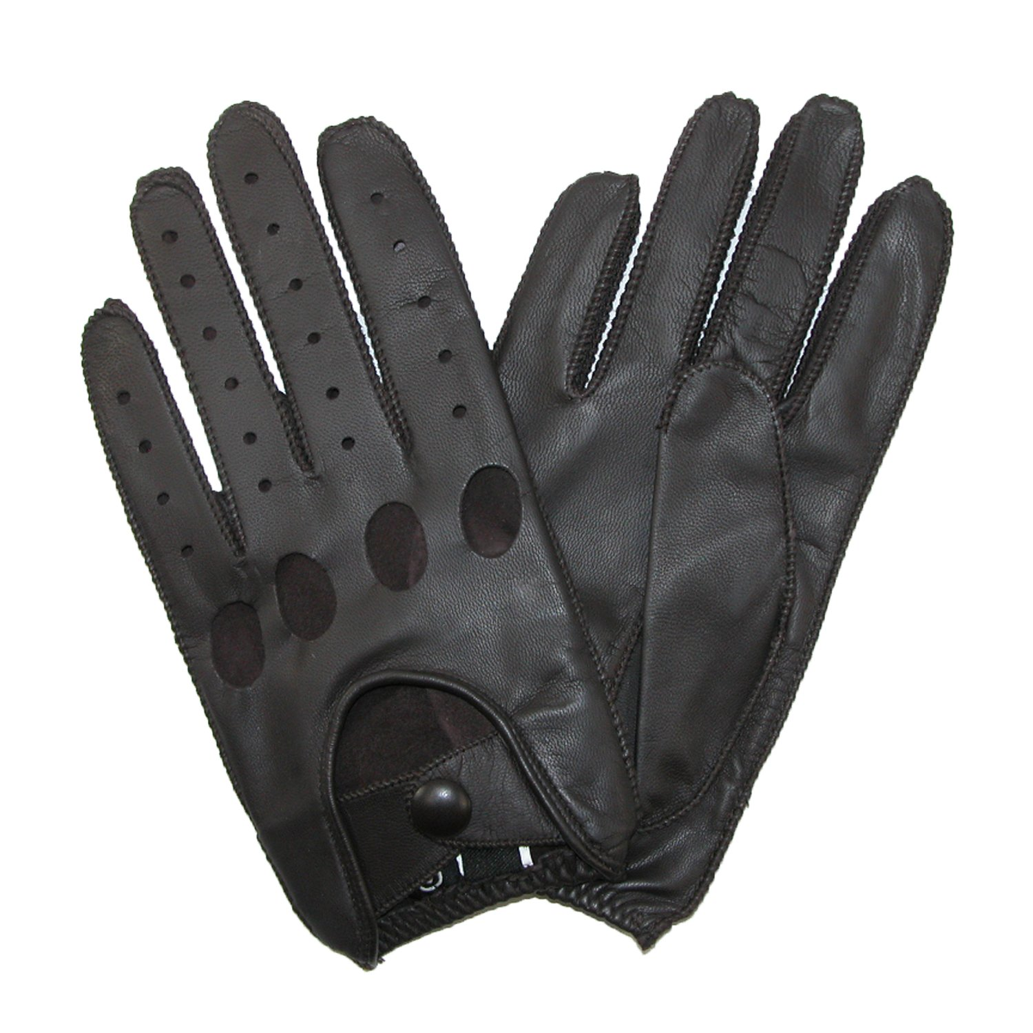 Leather driving gloves macys - Isotoner Men S Smooth Leather Driving Glove With Covered Snap Brown Medium At Amazon Men S Clothing Store Cold Weather Gloves