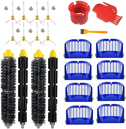 Supon robot accesorio cepillos de repuesto para robot serie 600 accesorios de repuesto, filtros, cepillo de cerdas para robot aspirador (600-00302): Amazon.es: Hogar