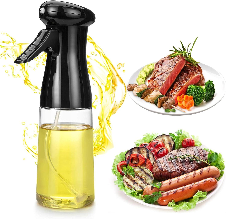 Olive Oil Sprayer,Food Grade Oil Sprayer Mister Dispenser Bottle For BBQ, Cooking Salad, Backing, Roasting, Frying, Kitchen.