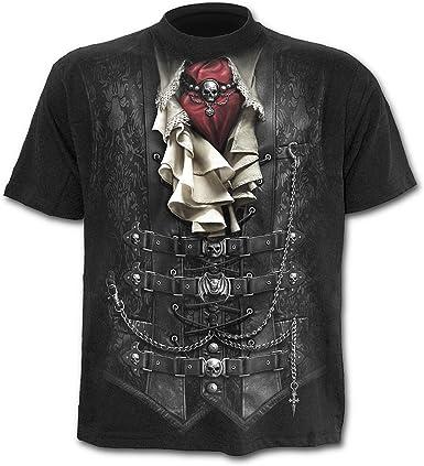 Espiral – Hombres – Mango – Camiseta Negro