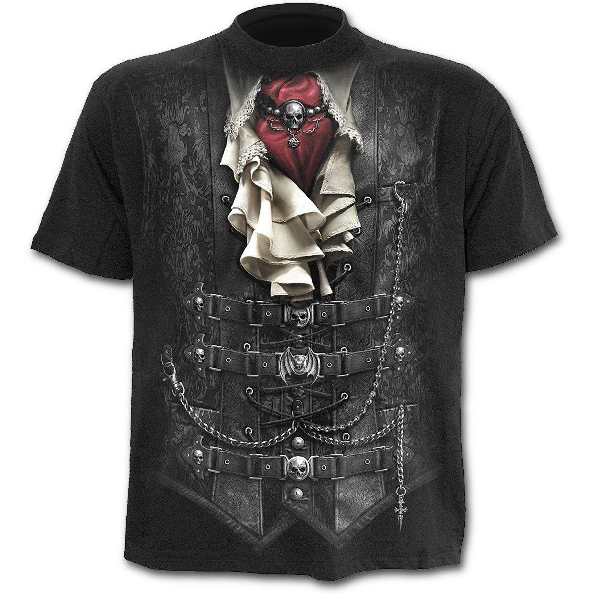 Spirale a vita da uomo–T-shirt–nero SPIRAL DIRECT