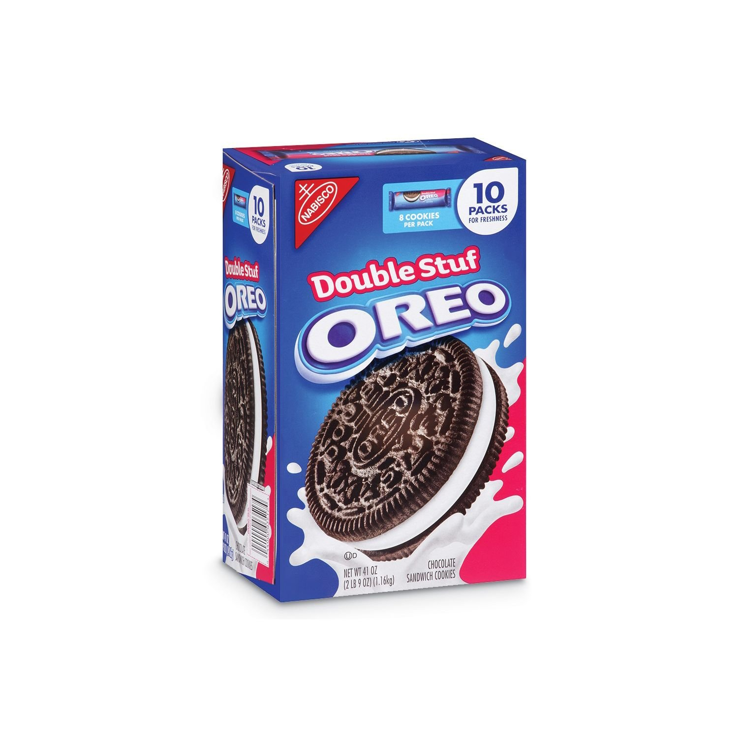 Nabisco Double Stuf Oreo (8 cookies/pack, 10 pks.) (pack of 2)