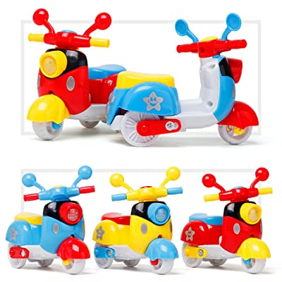 Elevin(TM)???????? Mini Motorcycle Toy Pull Back Diecast Motorcycle Early Model Educational Toys: Toys & Games