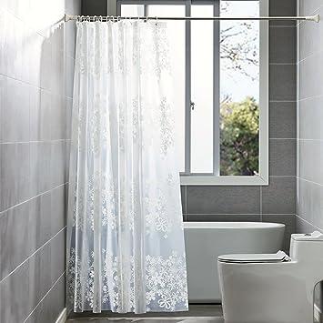 Duschvorhang Wasserdicht Und Anti Schimmel Von ShowPower, PEVA  Wasserdichter Duschvorhang Durchsichtige Blumen 240 X