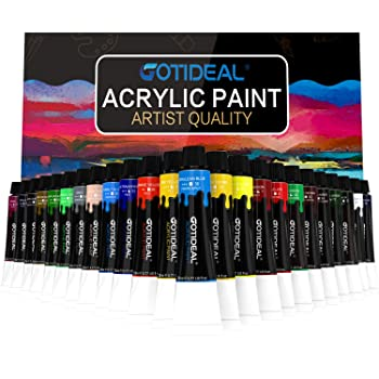 GOTIDEAL Set of 24 Colors Acrylic Paint