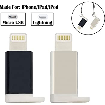 Amazon Com Lightning Adapter 5 Pack Roopower Micro Usb