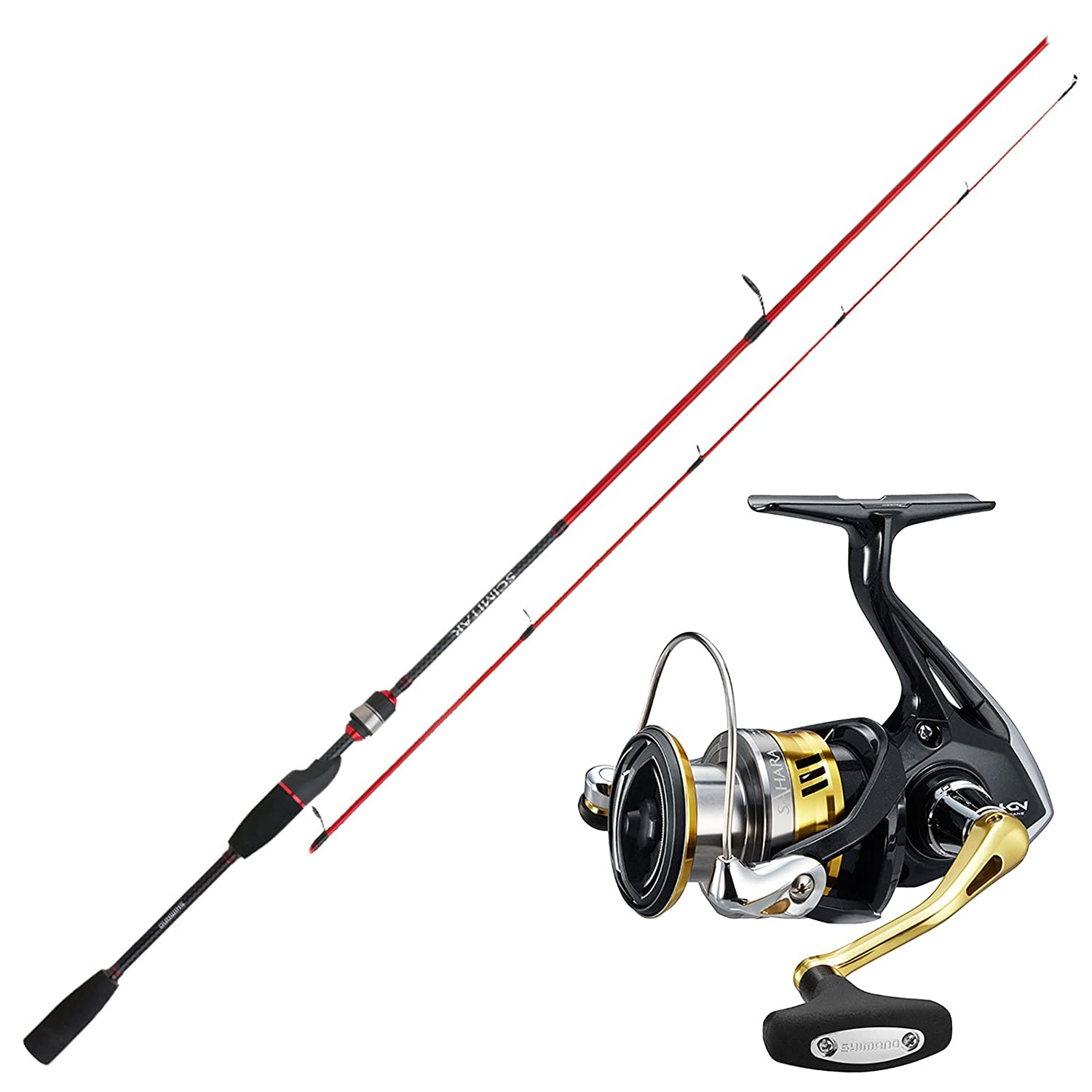 Spinnangeln Combo No2 SHIMANO Angelset Hecht Angeln Rute Rolle