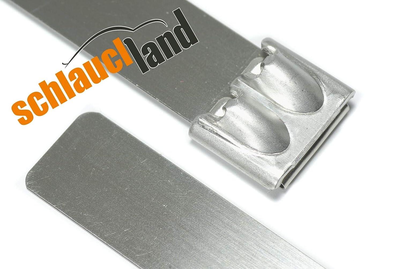 1x Kabelbinder Edelstahl 4,6 x 150 mm *** 15 cm Schlauchbinder V2A Schlauchschelle 15cm