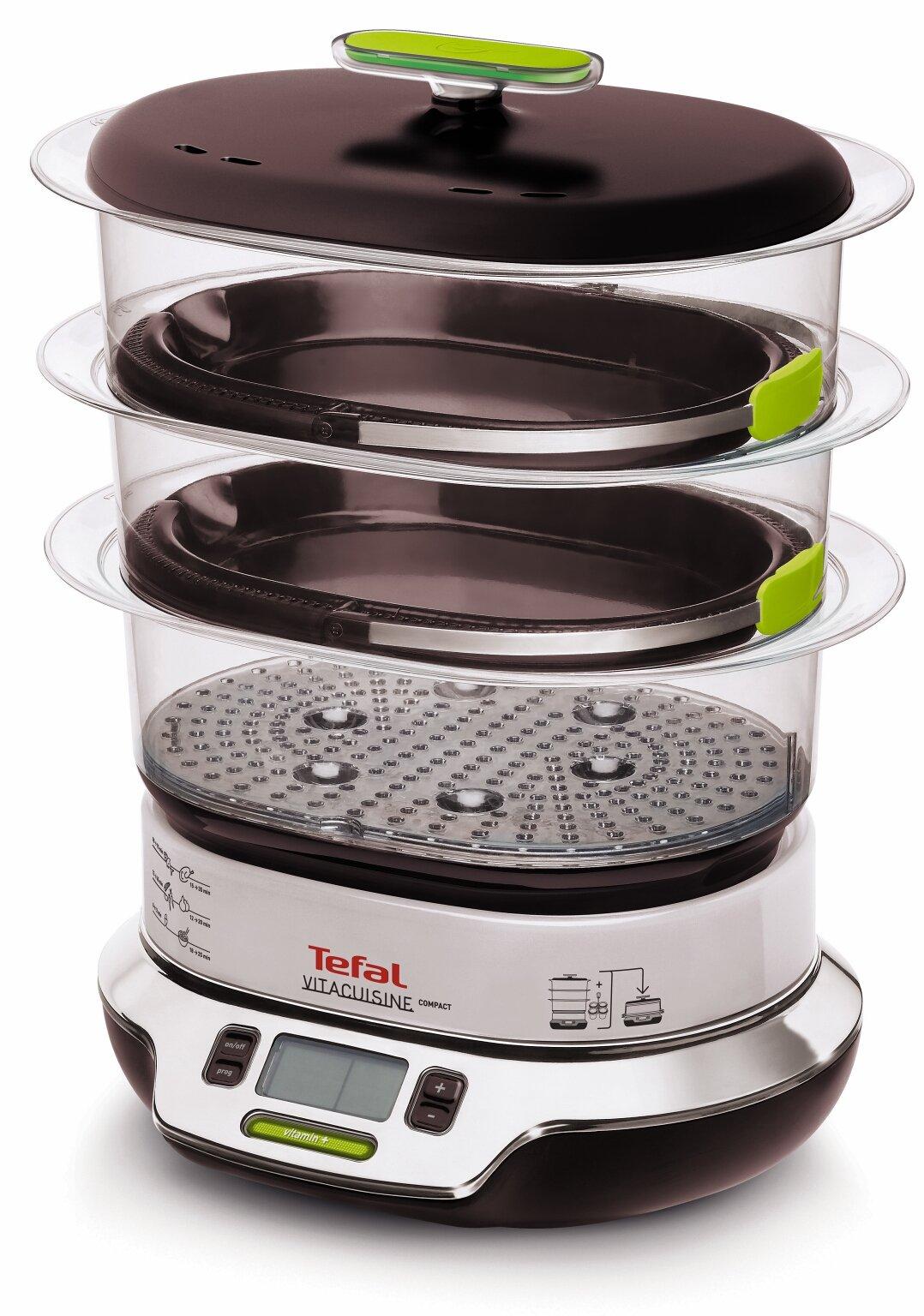 Tefal VS4003 Cuiseur vapeur Vitacuisine Compact 1800 W avec livre de recettes (en langue italienne) product image