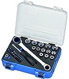IMATEC KS-36 Steckschlüsselsatz und Bit-Set Inbus I 1/4 Zoll I 36-teilig I Chrom-Vanadium | für alle Schraubentypen geeignet