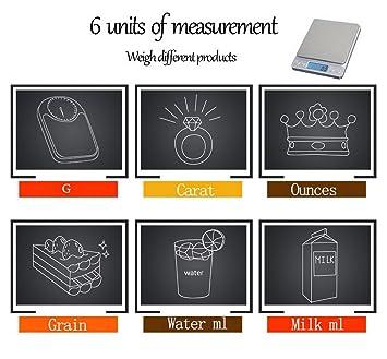 restbuy báscula de cocina electrónica de alta precisión Báscula Digital de cocina profesional impermeable acero inoxidable táctil sensible pantalla LCD ...