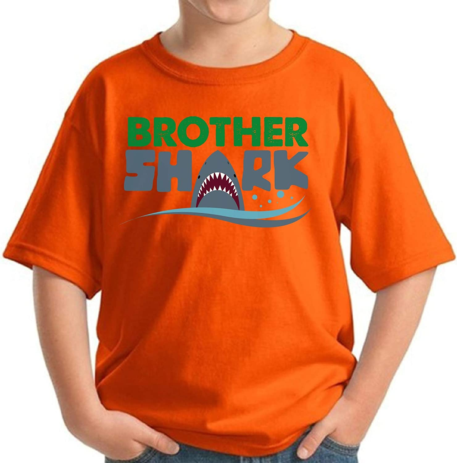 Awkward Styles Brother Shark Shirts for Youth Shark Family Shirts for Kids Funny Tshirts