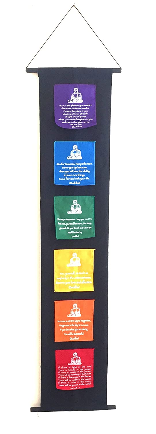 Buddha Prayer Flag 7 Chakra String Prayer Flag