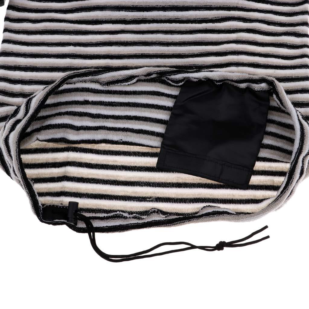 Negro F Fityle Cubierta para Tablas de Surf a Velas Dise/ño Moderno con Rayas de Blanco Marr/ón