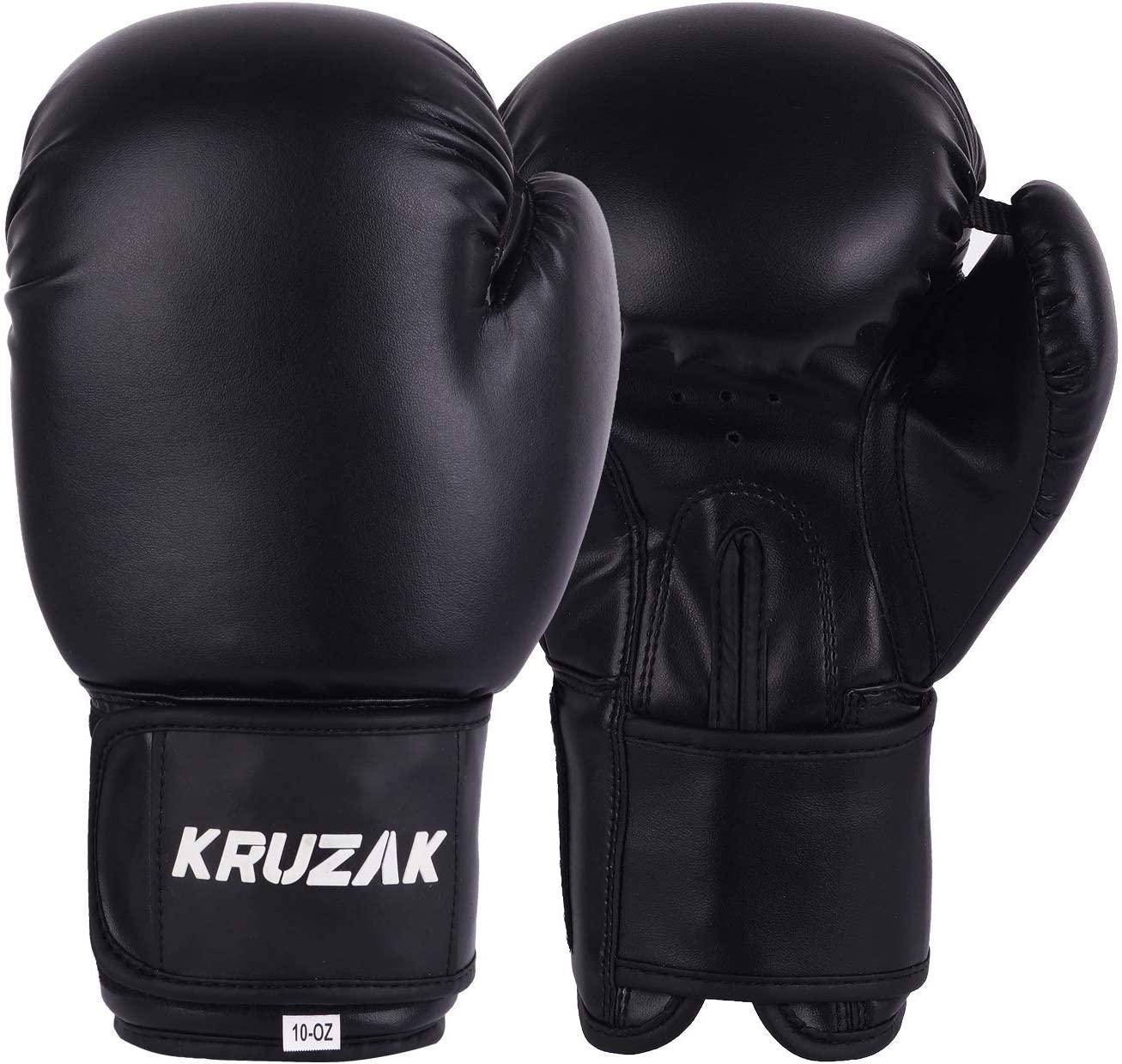 Martial Arts /& MMA Fighting Kickboxing Muay Thai Kruzak Plain Boxing Gloves for Sparring Men /& Women Punch Bag Mitts Training and Focus Pads Punching