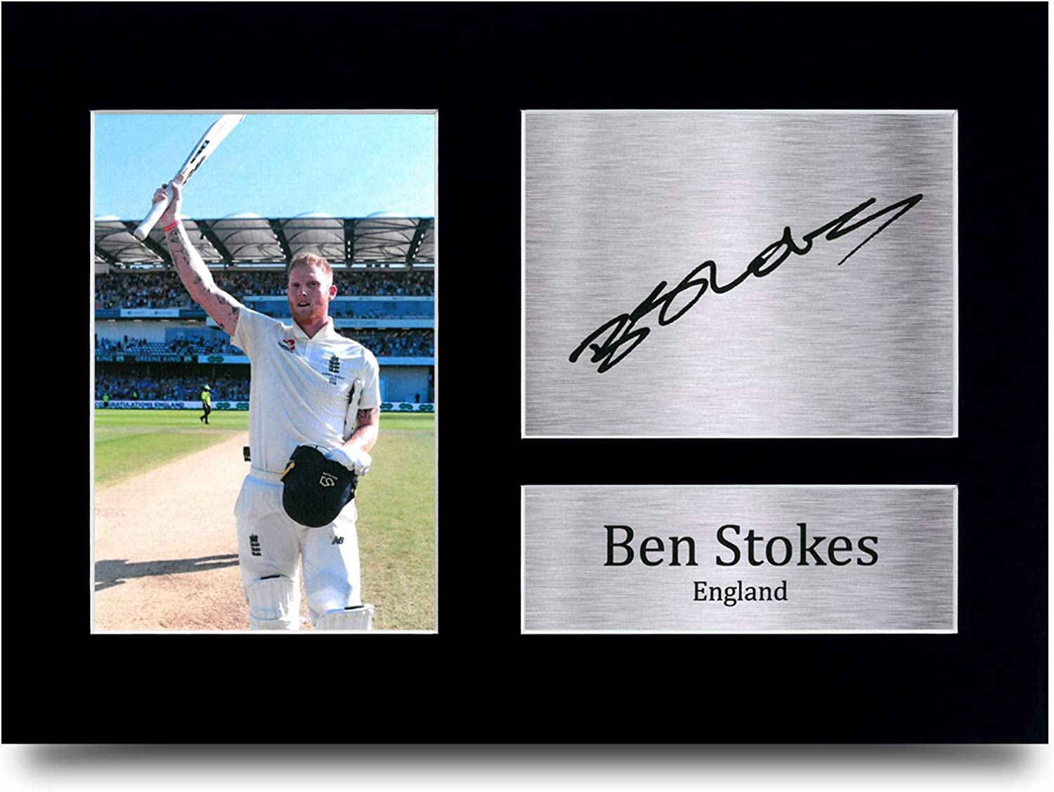 A4 HWC Trading Ben Stokes England Gifts Printed Signed Autograph Picture for Cricket Memorabilia Fans