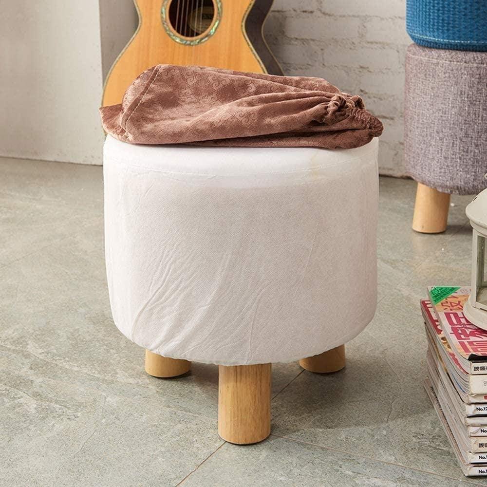 Tsosginaog Polsterhocker Tritthocker Hocker - Fußhocker Waschbares Sofa Sitzbank Stoff Kinderhocker Wohnzimmer-C. A