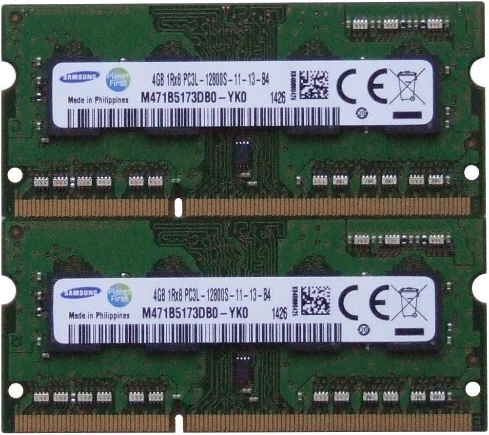 Samsung ram Memory Upgrade DDR3 PC3 12800, 1600MHz, 204 PIN, SODIMM for 2012 Apple MacBook Pro's, 2012 iMac's, and 2011/2012 Mac Mini's (8GB kit (2 x 4GB))