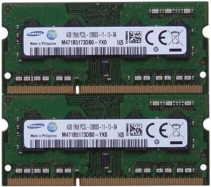 Samsung ram memory upgrade DDR3 PC3 12800, 1600MHz, 204 PIN, SODIMM for  2012 Apple Macbook Pro's, 2012 iMac's, and 2011 / 2012 Mac mini's (8GB kit  ( 2
