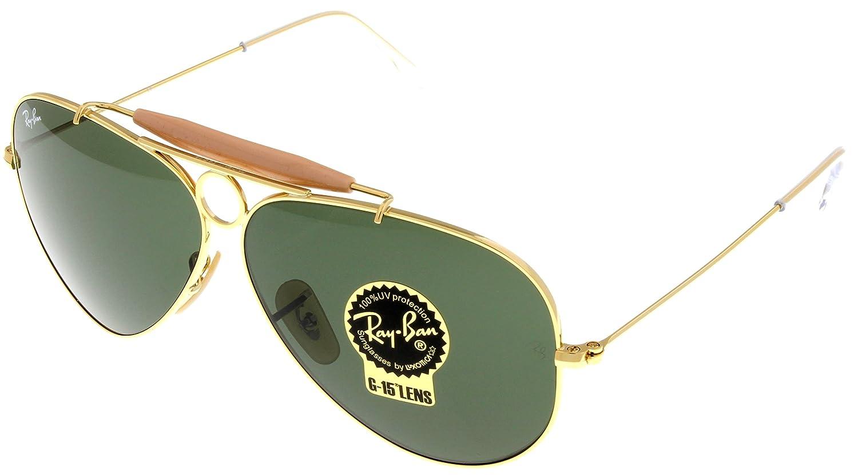 f43cdfa719585 Amazon.com  Ray Ban Sunglasses Shooter Aviator Unisex Browbar Enhanced  RB3138 001  Shoes
